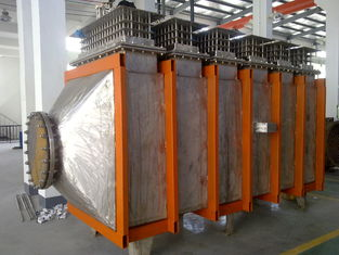 China Horizontal Electric Air Duct Heaters With Electric Heating Elements Protection supplier