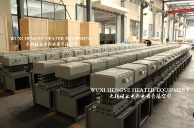 China Square Flange Electric Air Duct Heaters For Gas Automatic Temperature Control distributor