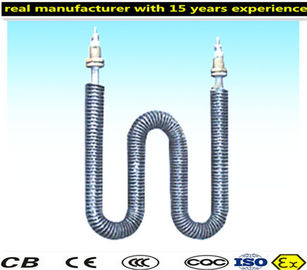China Durable Finned Tubular Heating Elements Customized Tube Diameters distributor