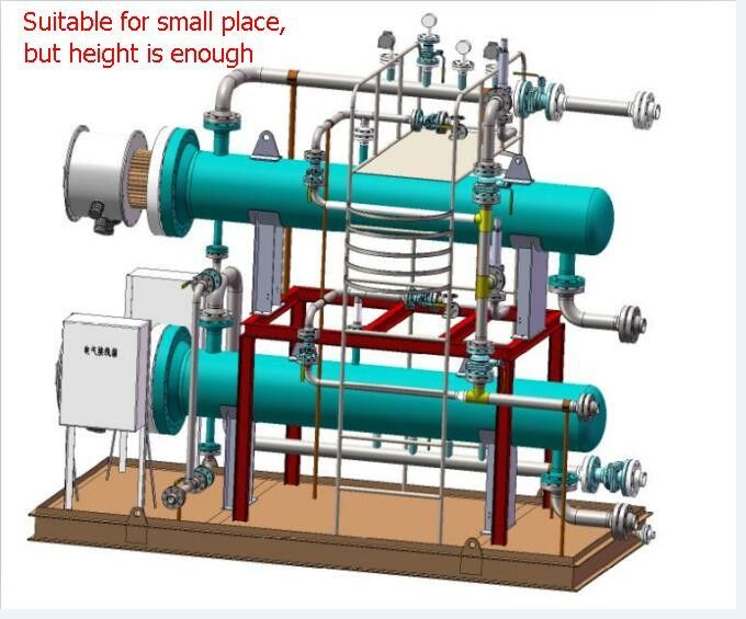 Industrial Hot Water Boiler Wooden Box Packing With Internal Control System